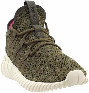 Detalles de Adidas Originals Tubular Dawn Zapatillas Mujer Verde Oscuro Deportivas