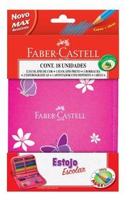 Estojo Escolar Completo Lapis Cor Faber-castell 12 Cores 1
