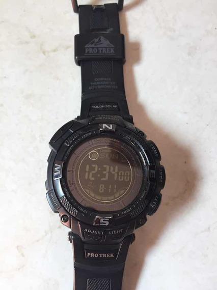 Relógio Casio Pro Trem Prg130y Barômetro Termômetro Cás