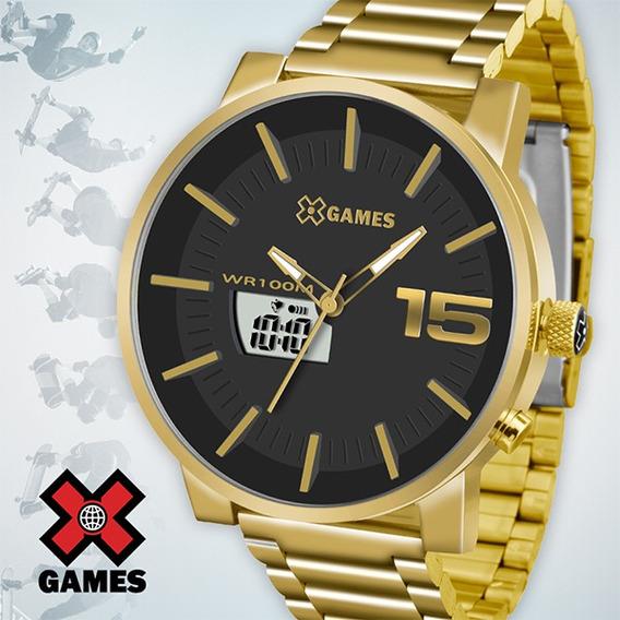Relógio Masculino Dourado X-games - Frete Grátis