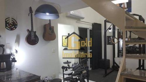 Imagem 1 de 6 de Apartamento Com 1 Dormitório À Venda, 60 M² Por R$ 220.000,00 - Nova Aliança - Ribeirão Preto/sp - Ap2487