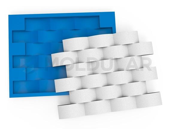 Molde Para Gesso 3d - 100% Silicone - Tijolinho Concavo P