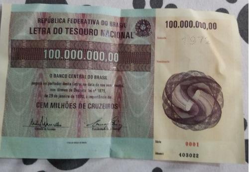 Vendoltn1970 Serie 0001 Valor De Face 100.000.000,00