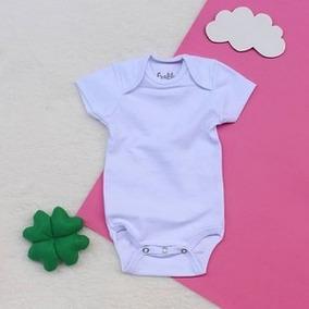 Body Básico Para Bebê Branco Ribana Manga Curta Frablu