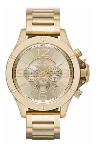 Relógio Armani Exchange Cronógrafo - Ax1504/4dn Dourado.