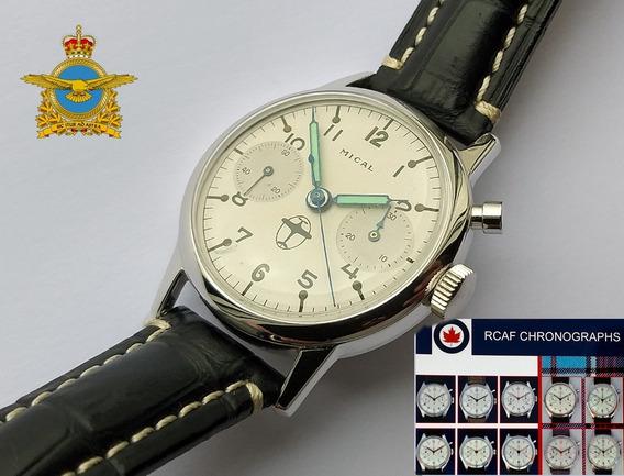 Cronógrafo De Piloto Militar - Valjoux 22 (déc 1960) Raro