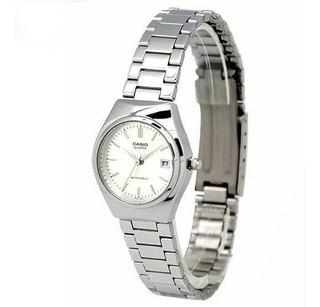 Reloj Casio Ltp-1170a-7a Mujer Fechador Malla Acero Inox Wr