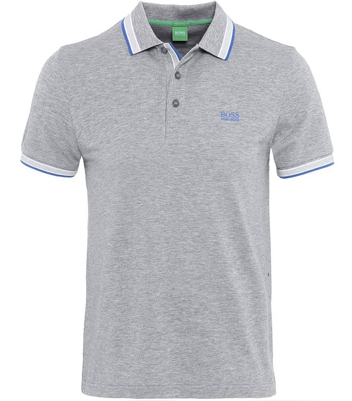 Playera Polo Hugo Boss Original Color Gris-- Talla Xl. 2019