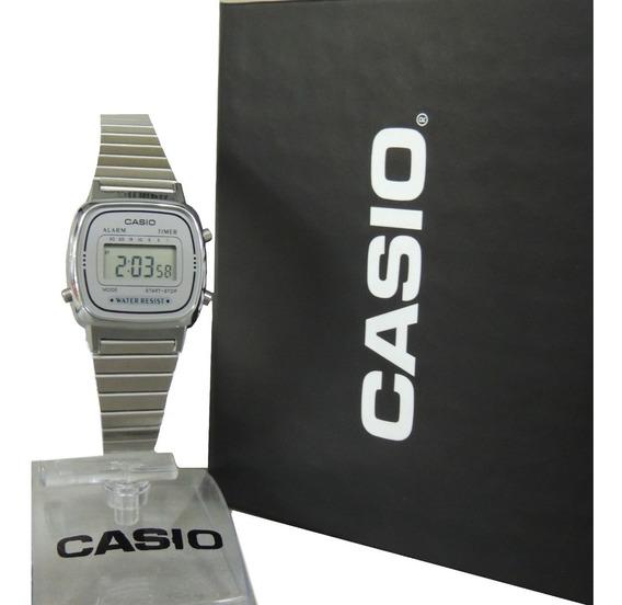 Relógio Casio Vintage Mini Fem. - La670wa-7df Nf E Garantia