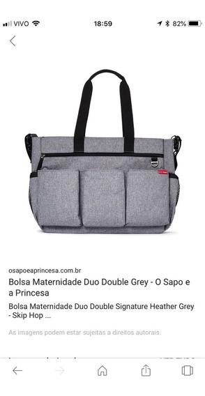 Bolsa Maternidade Skip Hop Duo Cinza - Usado
