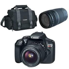 Kit Canon Eos T6 18-55mm + 75-300mm + Bolsa 300dg