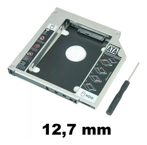 Case Adaptador Caddy 2º Hd Ssd/dvd P/notebook 12mm 12,7mm