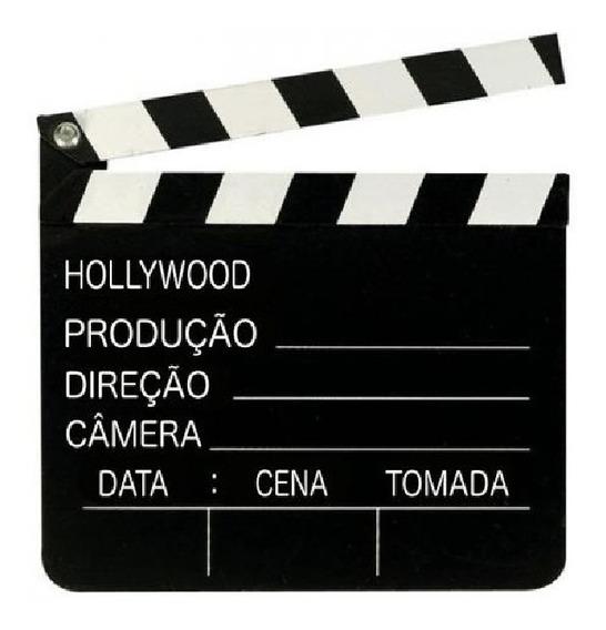 Claquete Cinema Em Madeira Universal Grande 30cm Youtuber