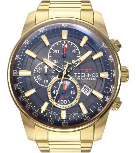 Relógio Masculino Technos Grandtech Dourado Original Nf
