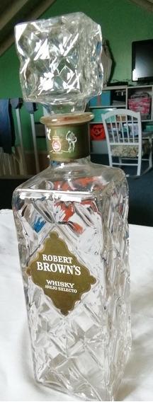 Botellón Para Whisky Antiguo Labrado