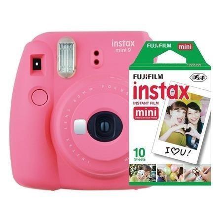 Fujifilm Instax Mini 9 - Foto Instantânea - Rosa Flamingo +
