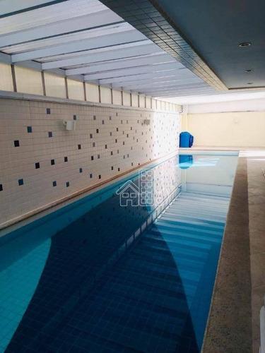 Apartamento Com 2 Dormitórios À Venda, 90 M² Por R$ 750.000,00 - Icaraí - Niterói/rj - Ap3380