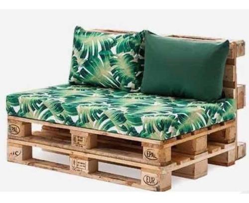 Sofá De Pallets 1,20x0,80 (madeira Sustentável)