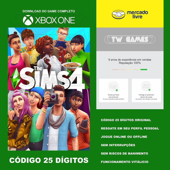 The Sims 4 Codigo 25 Digitos Original Xbox One Fat S X