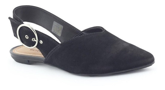 Sapato Feminino Slingback Couro 290505 Rasteiro Bottero