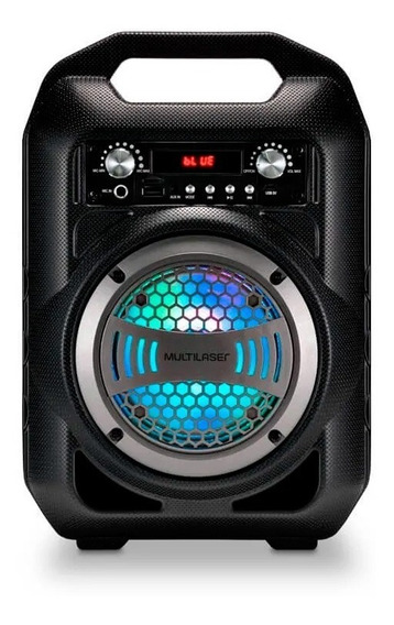 Caixa De Som Amplificada Led Bluetooth Mp3 Sd Microfone Sp25