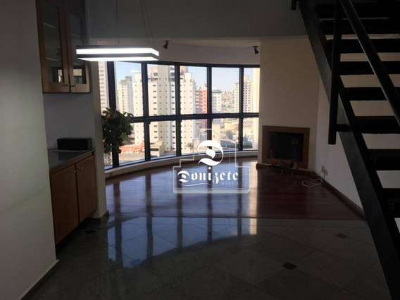 Apartamento Duplex Com 1 Dormitório À Venda, 97 M² Por R$ 490.000,00 - Jardim - Santo André/sp - Ad0075