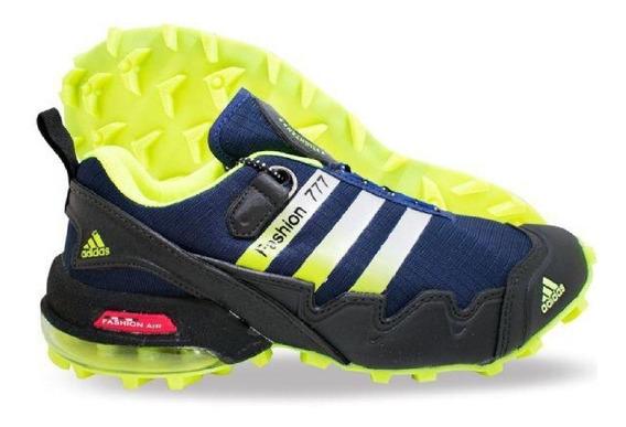 Tênis Speed Croos 2 Azul Verde Limão N 40