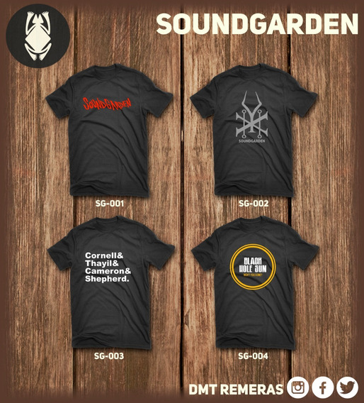 Remeras Soundgarden - Estampadas Con Vinilo Importado