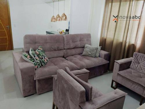 Imagem 1 de 24 de Cobertura Com 2 Dormitórios À Venda, 55 M² Por R$ 410.000 - Vila Guaraciaba - Santo André/sp - Co1205