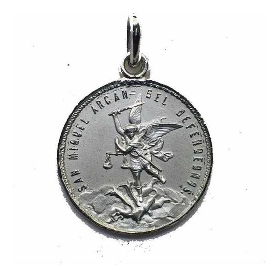Medalla Plata 925 San Miguel Arcángel #233 Bautizó Comunión