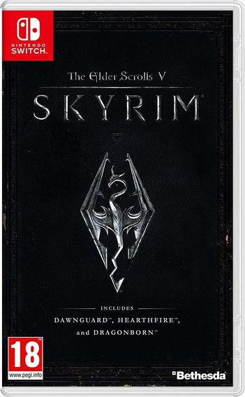 The Elder Scrolls V Skyrim Switch Mídia Física Lacrad