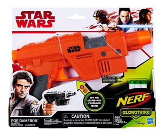 Nerf Star Wars Poe Dameron Pistola Láser Dardos Luminosos