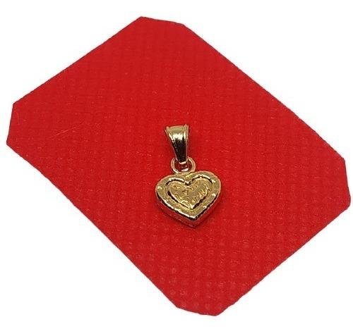 Dije Medalla Corazon De Amor Mediano En Oro Lami Joya 00319