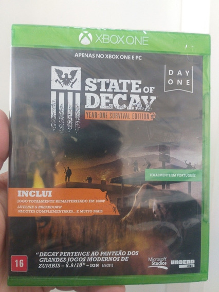 Jogo One State Of Decay
