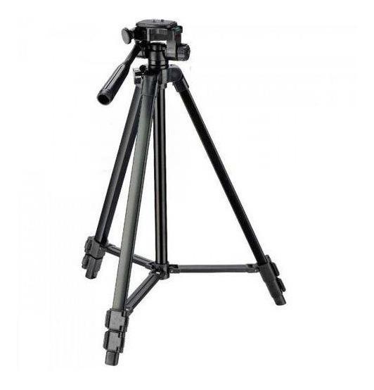 Tripé Profissional Preto Universal 1,20m Sony Canon Nikon