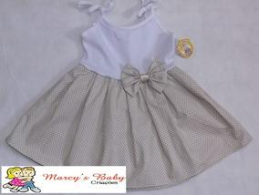 Vestido Infantil Bebê. Menina Tamanhos 2 A 24 Meses