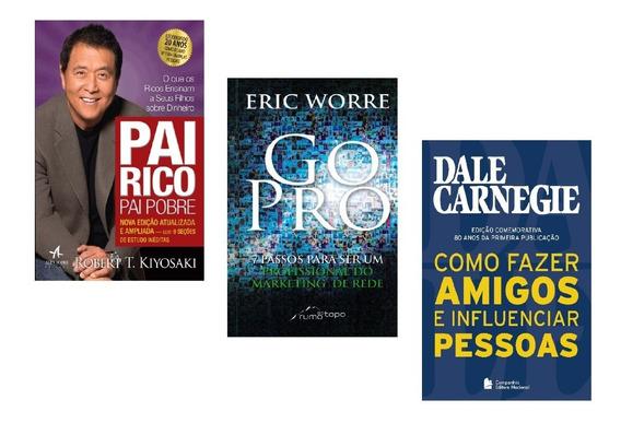Livros Pai Rico + Go Pro + Como Fazer Amigos #