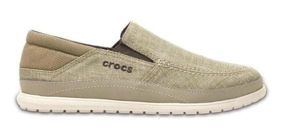 Nautico Crocs Santa Cruz Playa Slip On Bei 204835b