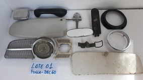 Lote Peça Fusca Antigo Velocimetro Grade Friso Espelho Luvas