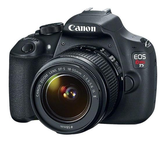 Câmera Canon Eos Rebel T5 Lente 18-55mm Tripé 52 Polegadas