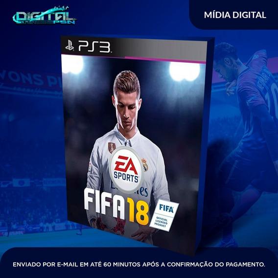 Fifa 18 Ps3 Psn Jogo Digital Envio 10 Min