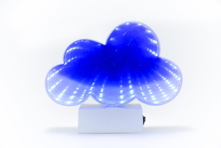 Lámpara Espejo Infinito Luz Led Nube Cuadro Deco Velador