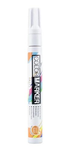 2x Caneta Color Marker Multiuso Branco Pinta Rejunte