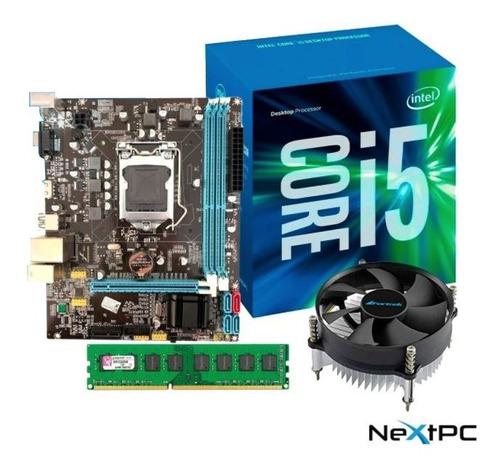 Imagem 1 de 6 de Kit I5 3470 3.60 Ghz + Placa H61 1155 + 4gb Ddr3 + Cooler