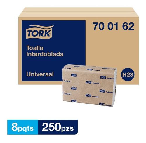 Tork Toalla Interdoblada Universal Hs 8 Paq / 250 Pzs