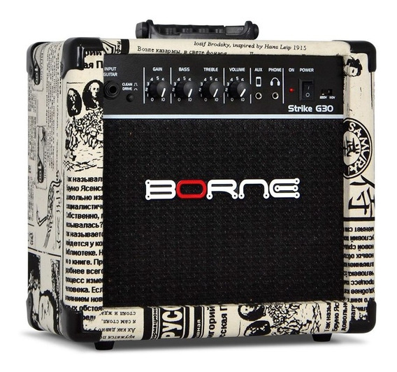 Amplificador Cubo Guitarra Borne Jornal G30 15w