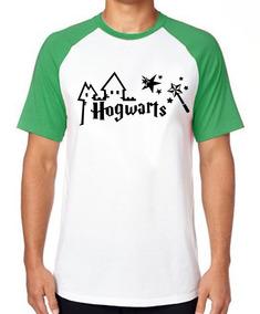 Camiseta Luxo Hogwarts Harry Potter Varinha Estrelas Magico
