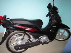 Honda Wave 110 Negra Aros De Aleacion De Magnesio