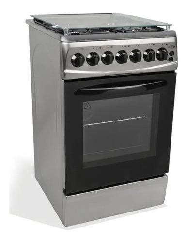 Cocina Delne Combinada 3+1 Te-5631 Inox 50x60 Albion