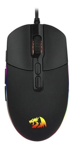 Mouse Gamer Redragon Invader Rgb 10000dpi Com Fio Novo